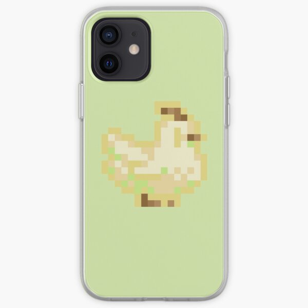 Cute Stardew Valley Key Lime Pie Ice Cream Chicken with Waffle Cone iPhone Soft Case
