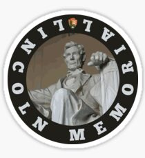 Lincoln Memorial circle Sticker