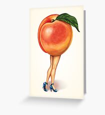 Fruit Stand - Peach Girl Greeting Card