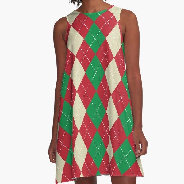 Marry Christmas Pattern  A-Line Dress