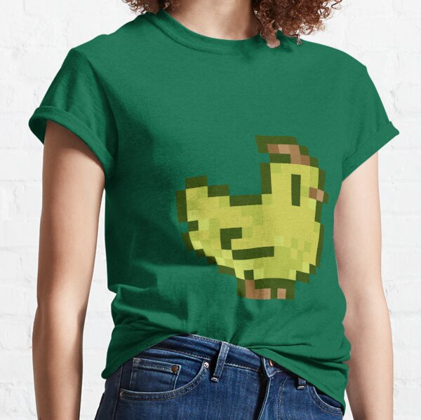 Cute Stardew Valley Avocado Ice Cream Chicken with Waffle Cone Classic T-Shirt