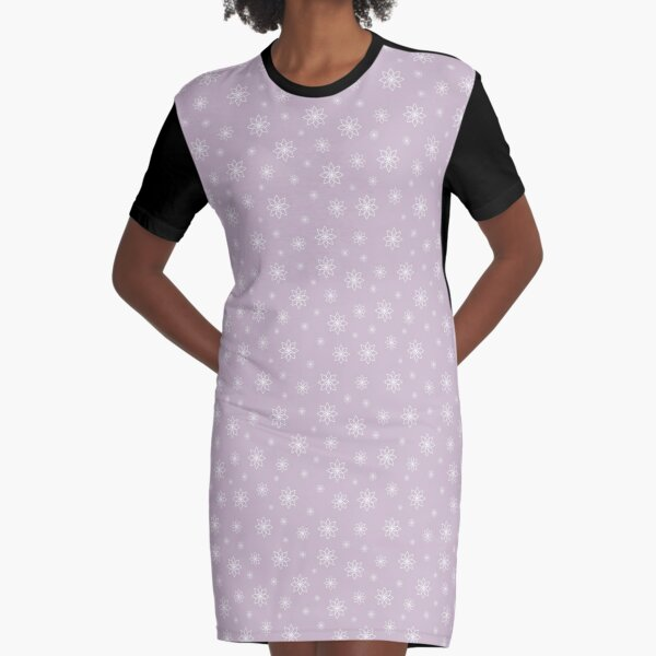 Geometrical flowers with pale pink background  illustration seamless pattern Graphic T-Shirt Dress