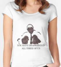 You Have Disappointed All Three of Us - Lieutenant Holt Women's Fitted Scoop T-Shirt