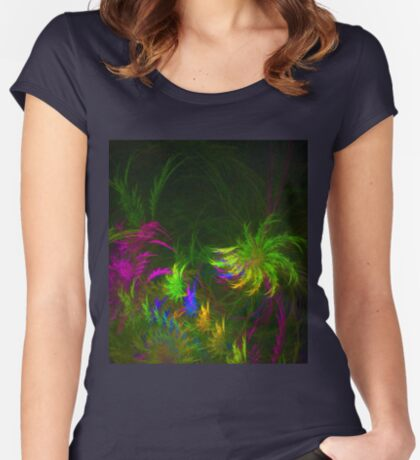 Jungle #fractal art 2 Fitted Scoop T-Shirt