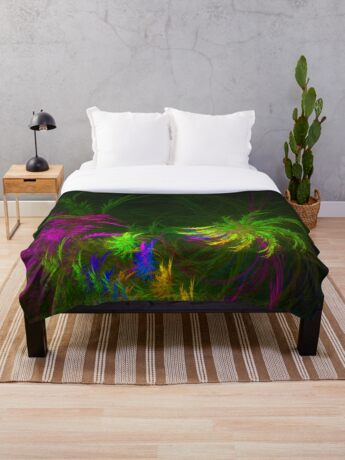 Jungle #fractal art 2 Throw Blanket