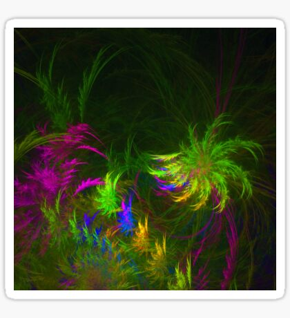 Jungle #fractal art 2 Sticker