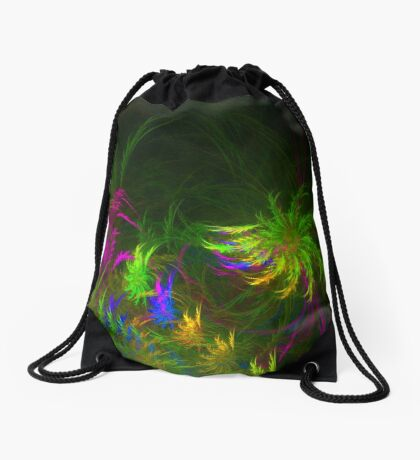 Jungle #fractal art 2 Drawstring Bag