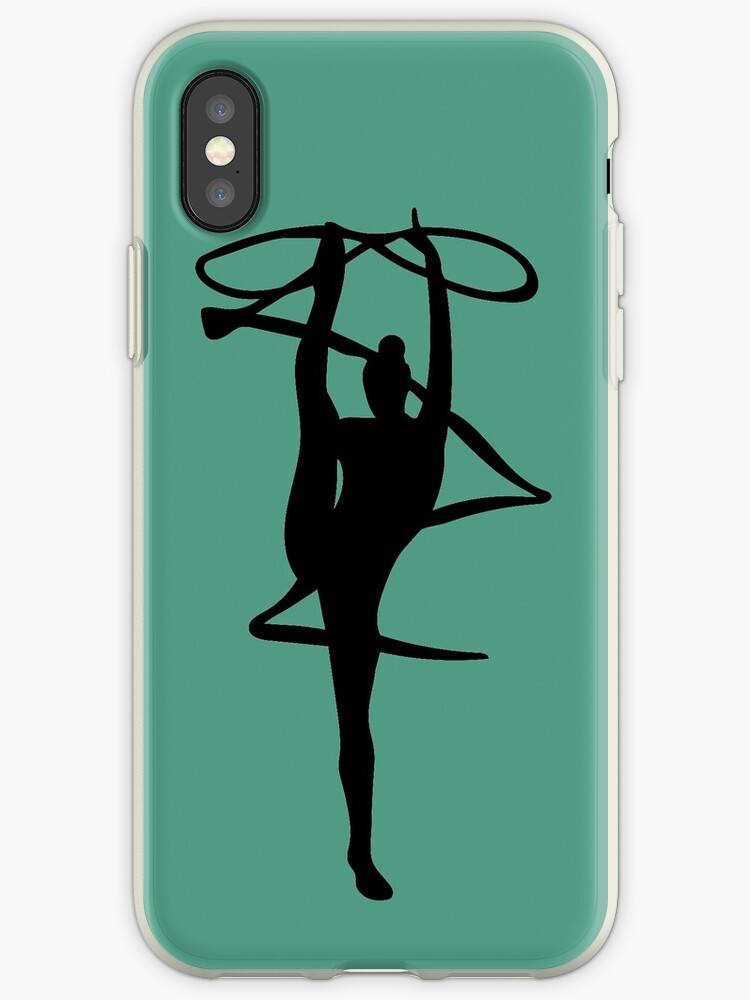 rhythmic gymnast silhouette iphone cases covers by everenglish