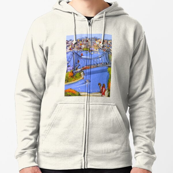 Story of a river Zipped Hoodie