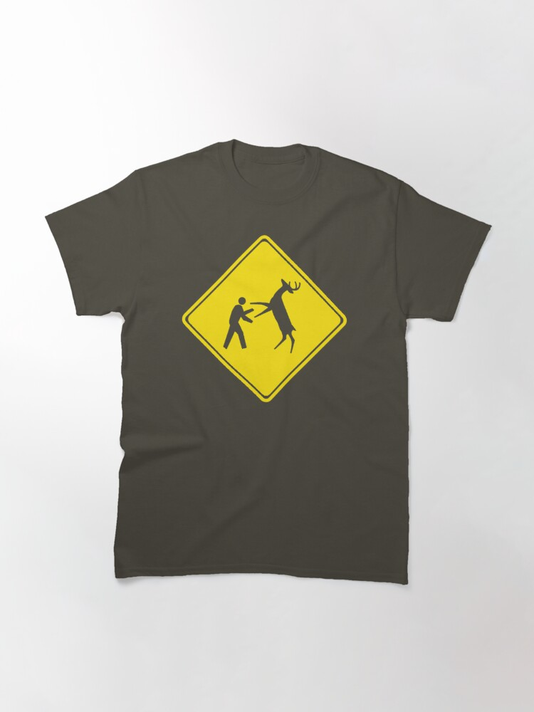 Alternate view of Cross Deer Crossing Classic T-Shirt