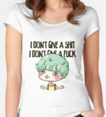 Yoongi doesn't give a sh*t Women's Fitted Scoop T-Shirt