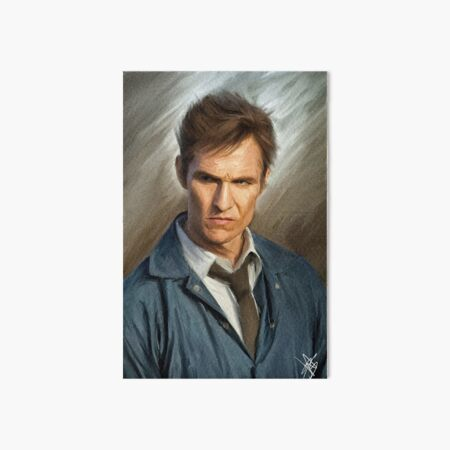 Rustin Cohle - Oil on Canvas Painting Art Board Print