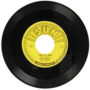 Elvis 45 RPM Record THAT's ALL RIGHT by thatstickerguy