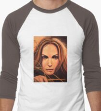 Natalie Portman Painting Men's Baseball ¾ T-Shirt