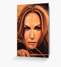 Natalie Portman Painting Greeting Card