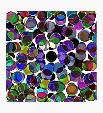 Cluttered Circles III Photographic Print