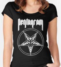 Pentagram- Relentless (for black shirts) Women's Fitted Scoop T-Shirt