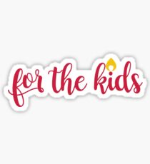 Red For The Kids  Sticker