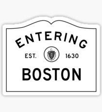 Pegatina Entrando en Boston