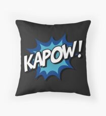 Kapow! Comic Throw Pillow