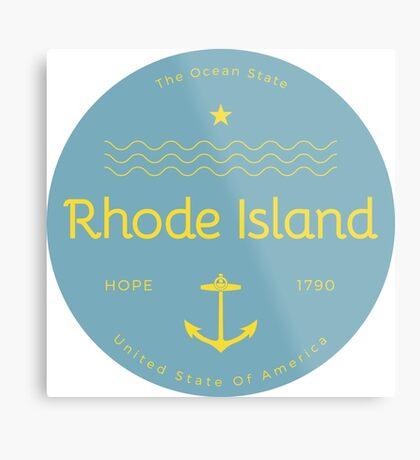 Rhode Island Badge Design Metal Print