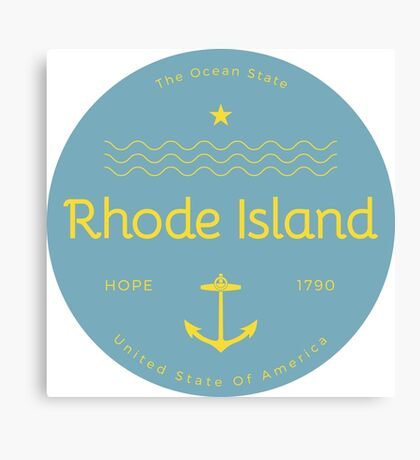 Rhode Island Badge Design Canvas Print