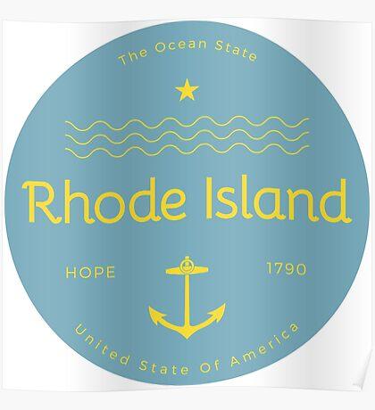 Rhode Island Badge Design Poster