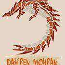 The Circular Huge Mountain Dragon by drakenwrath
