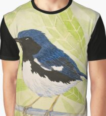 Black-throated Blue Warbler Graphic T-Shirt