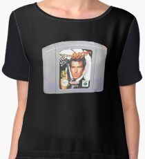 retro game shirt golden eye 007 for 64 Chiffon Top