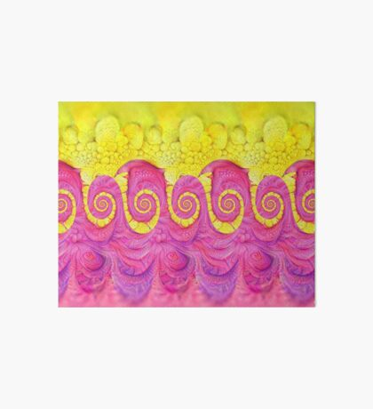 Yellow and Pink Art Board Print