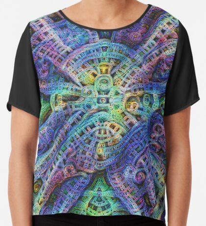 #DeepDream Temple Chiffon Top