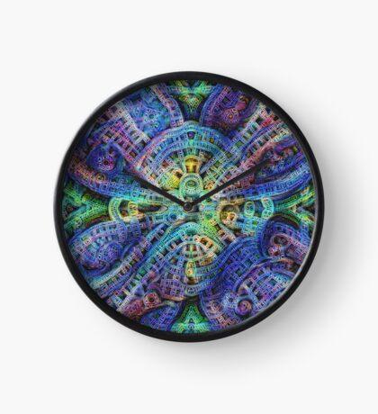 #DeepDream Temple Clock