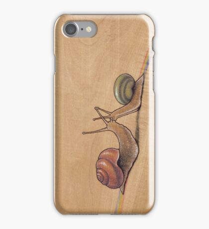 Snail Kiss (red/green) iPhone Case/Skin