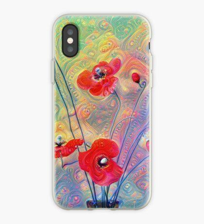 #Deepdreamed Poppies iPhone Case