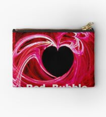 *MY HEART FOR RED BUBBLE* Studio Pouch