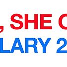 yes,she con. hillary 2016 by Val Goretsky