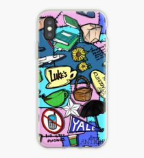 Gilmore Girl Pattern blue iPhone Case