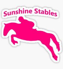 Pink Tessa/Pace Sihouette Sticker Sticker