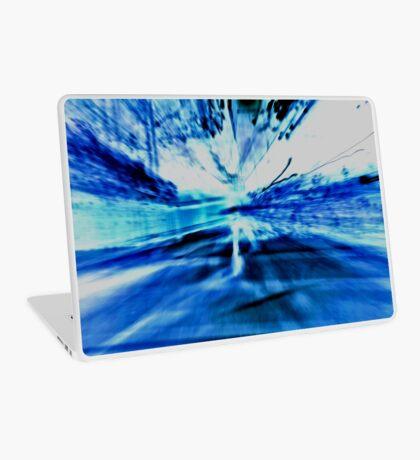 Blue Light Show Laptop Skin