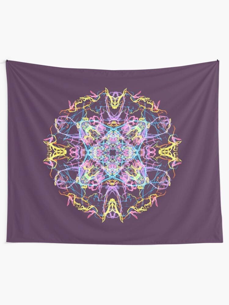 Alternate view of Floral Lights Wall Tapestry