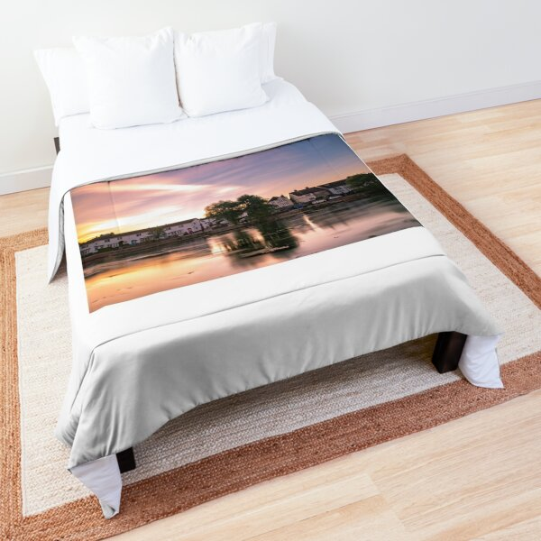 Sunrise across Emsworth Millpond, Hampshire Comforter