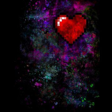 8-Bit Heart design  by Austin673