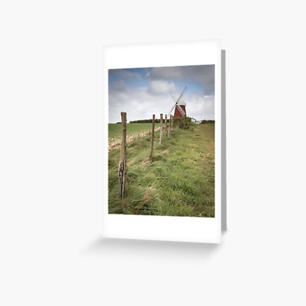 A Windmill in the English countryside  Greeting Card