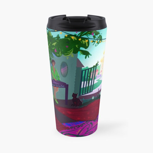 Bright summer time party in Moscow Travel Mug