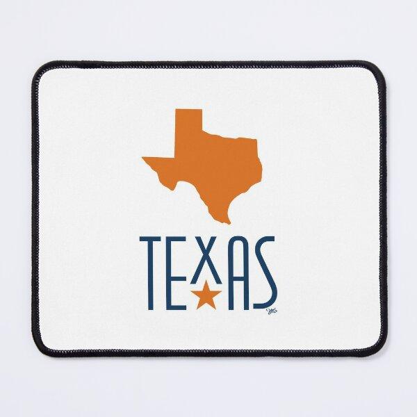 Symbols of Texas - Texas, orange Mouse Pad