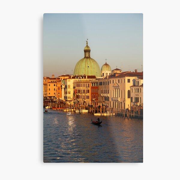 San Simeone Piccolo on the Grand Canal Venice Italy Metal Print