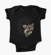 Socially Anxious Raccoon One Piece - Short Sleeve