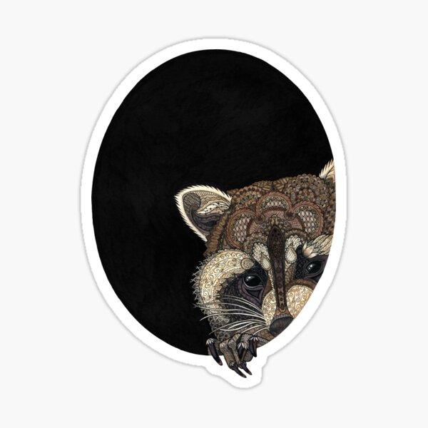 Socially Anxious Raccoon Sticker