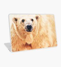 """Hope"" Polar Bear Wildlife Watercolor Art Laptop Skin"